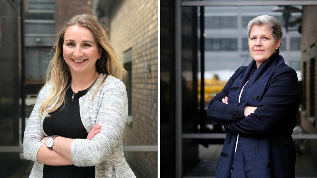 NAF-ADVOKATENE: Isabel Andersen Mougios (t.v.) og Vigdis Svennungsen rådgir blant annet i bruktbilsaker. Foto: Jon Terje Hellgren Hansen