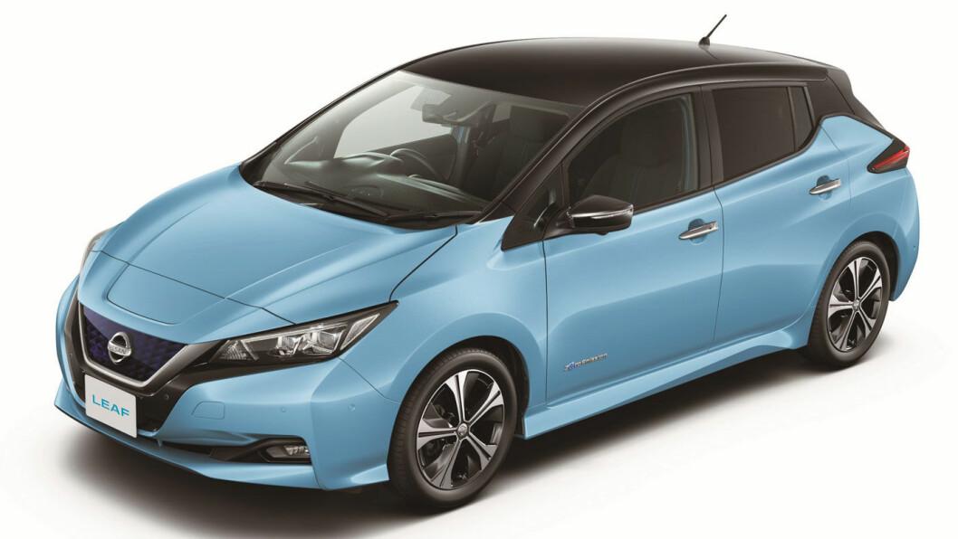 INNEN REKKEVIDDE: Nissan har kuttet leveringstiden på elsuksessen Leaf til tre måneder.