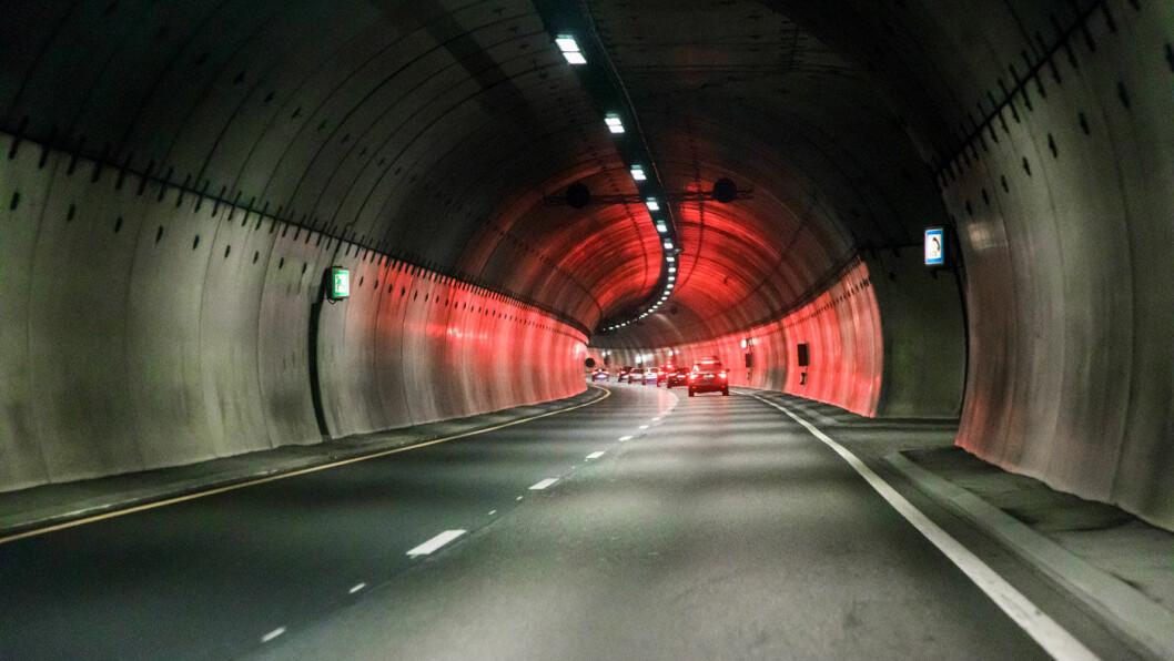 7000 OVERTREDELSER: Fotoboksen som står inne i Rælingstunnelen på vei mot Lillestrøm på Romerike er landets mest innbringende. Foto: Svein Nordrum, NTB scanpix