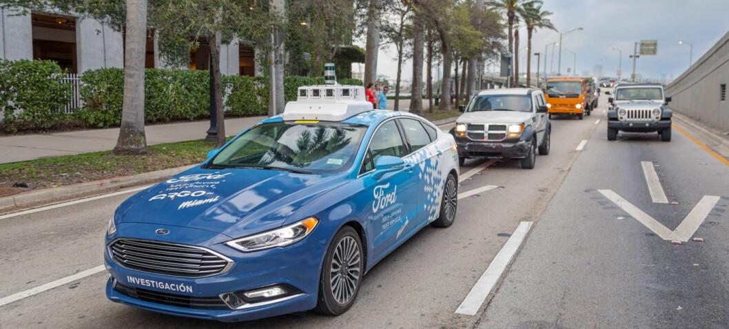 Ford satser på selvkjøring i stor skala fra 2021