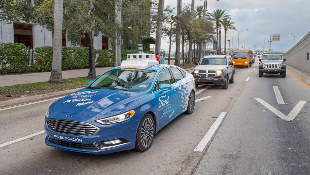 NY FORD-KLASSIKER? 110 år etter at T-Forden ble lansert kjører selvkjørende Ford-biler rundt i Miamis gater. Fra 2021 rulles prosjektet ut for fullt. Foto: Ford Motor Company