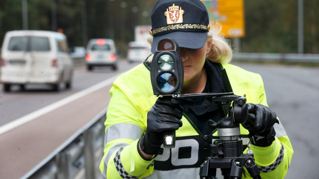 GODT MÅL: Politiet har marginer på målingene sine, og garanterer at du ikke får bot dersom du holder fartsgrensen. Foto: Gorm Kallestad/NTB scanpix