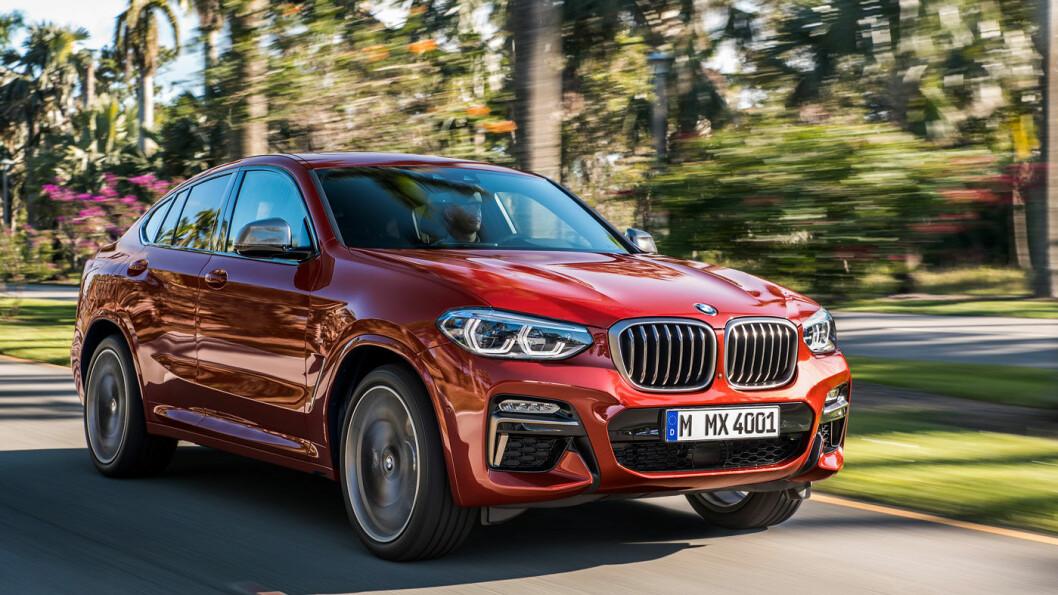 TO AV TRE: X4 er den andre av tre nye modeller i BMWs X-serie som presenteres i 2018. Foto: BMW