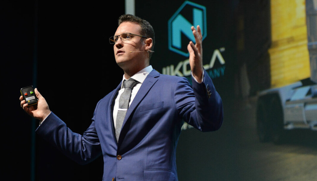 I NORGE: Nikola-gründer Trevor Milton under Zero-konferansen i Oslo i 2017.