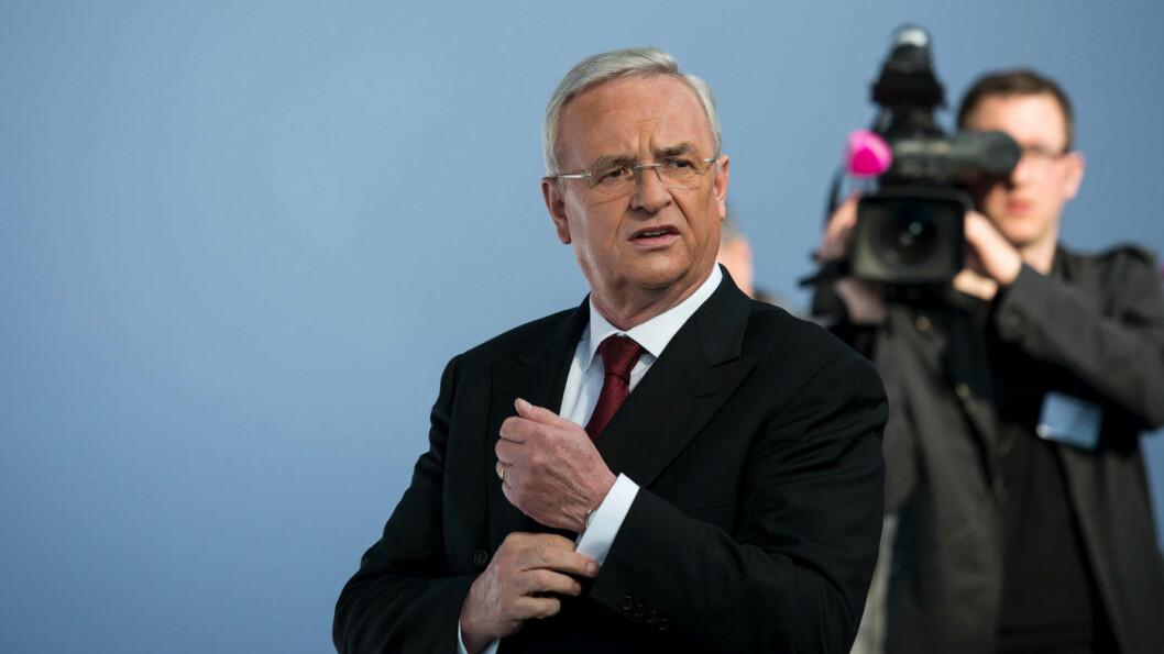 I TRØBBEL: VWs tidligere toppsjef Martin Winterkorn må svare for en alvorlig tiltale. Foto: AFP