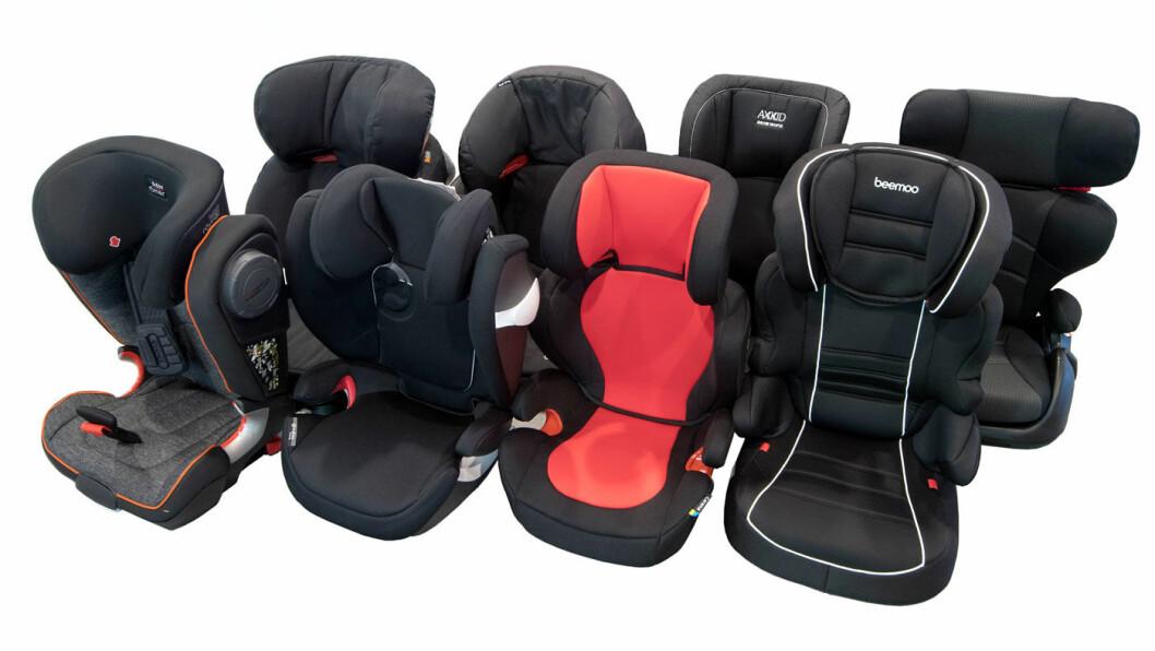 TEST AV BILSTOLER FOR BARN: NAF har testet kollisjonssikkerhet og brukervennlighet av åtte bilstoler på det norske markedet.
