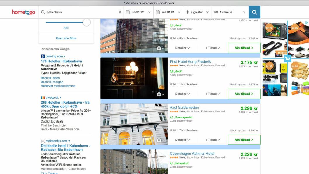 MEKTIGE SØKEMOTORER: De fleste av oss går direkte på hotellets hjemmeside når vi bestiller hotellrom i Norge, men vi bestiller hos en av de store søkemotorene når vi skal ha hotell i utlandet.