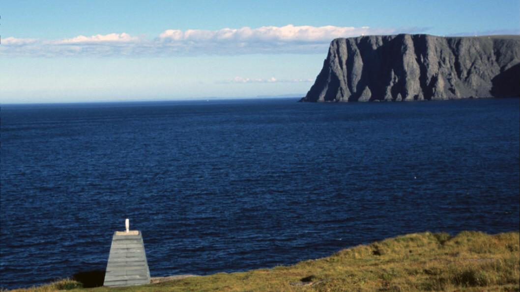 LENGST NORD: Fra Knivskjellodden ser man mot Nordkapplatået som ligger 1.611 meter lenger sør.