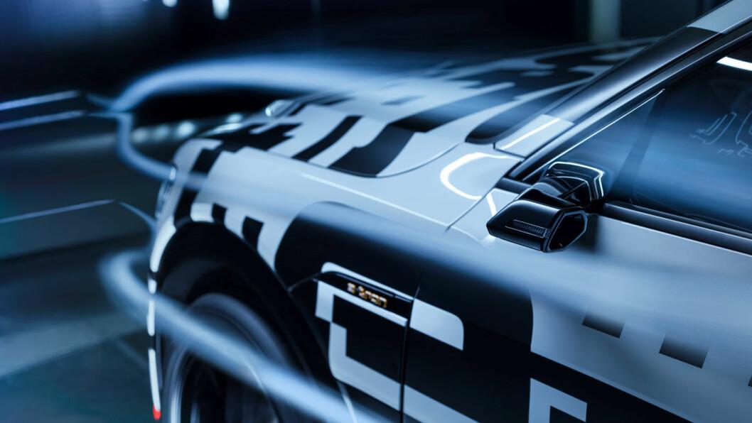 VERDENSPREMIERE: Disse sidespeilene har du aldri sett før. De blir ekstrautstyr på nye Audi e-tron. Foto: Audi