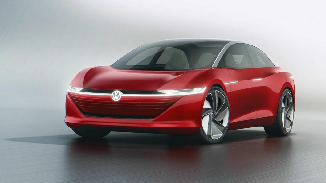 PÅ TEGNEBRETTET: VW I.D.Vizzion. Foto:Volkswagen AG