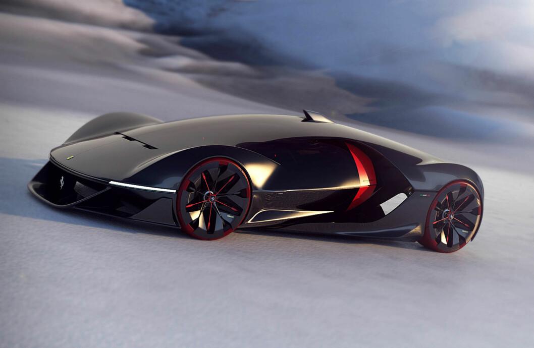 VANT KONKURRANSE: Seks skoleelever fra Frankrike vant design-konkurransen om hvordan Ferrari skal se ut i 2040 Foto: Ferrari