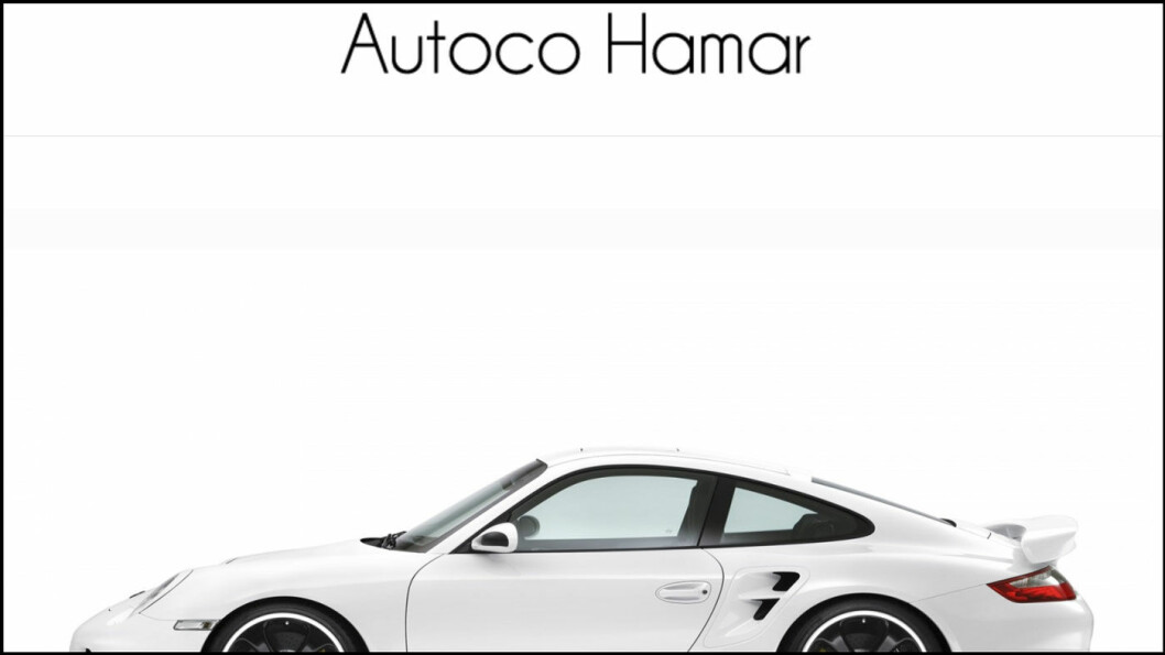 PÅ NETT: Faksimile av nettsiden til Autoco Hamar.