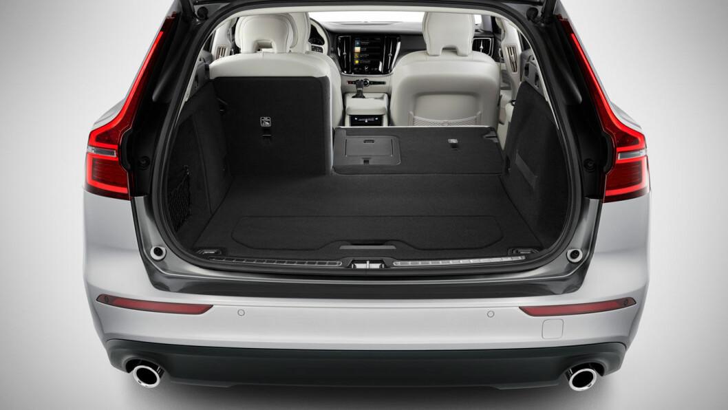 BEDRE PLASS: Nye V60 har 99 liter større bagasjeplass enn forrige modell.