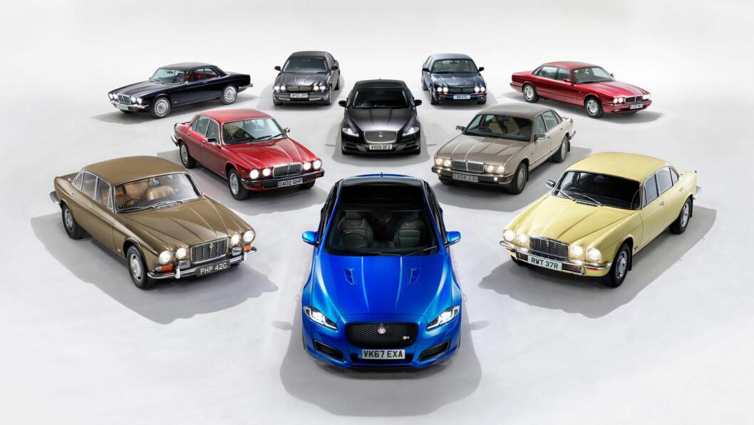 ET ENGERE UTVALG: Jaguar XJ har kommer i et rikt antall varianter siden den første trillet på veien i 1968.