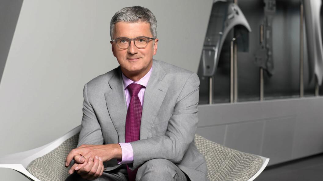 HARDT VÆR: Audi-direktør Rupert Stadler ble arrestert i morgentimene mandag. Foto: Audi