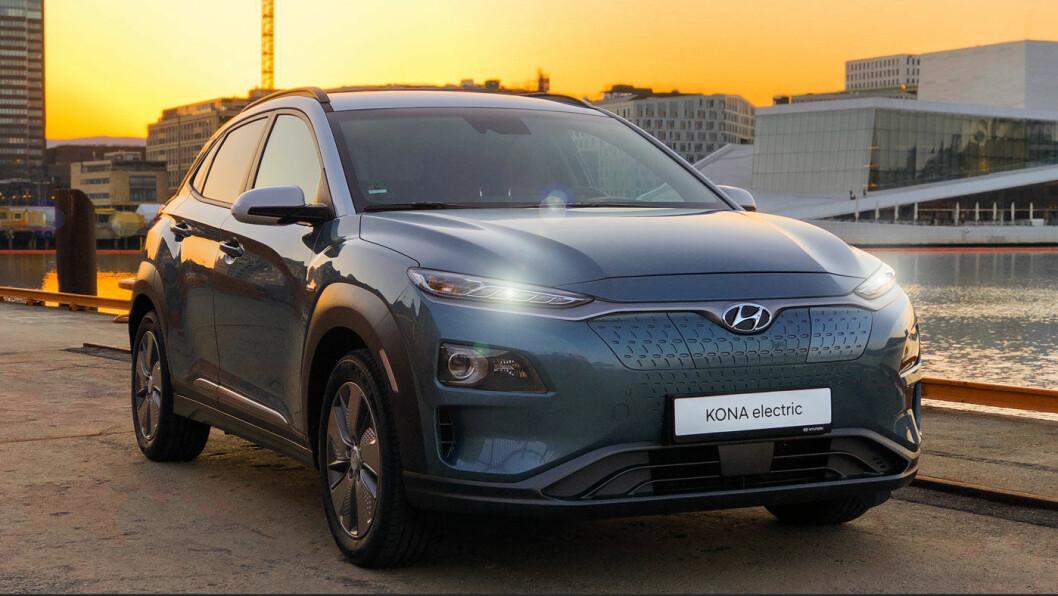 STERKEST: Hyundai Kona kommer bare med den største og sterkeste batteripakken. Den mindre er ikke bra nok for norske forhold, mener Hyundai i Norge.