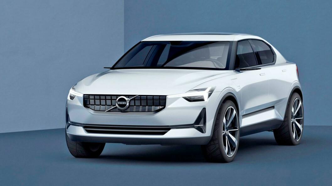 LEKKER: Polestar 2 lanseres i løpet av 2019, og blir første rene elbil fra Volvo-konsernet.