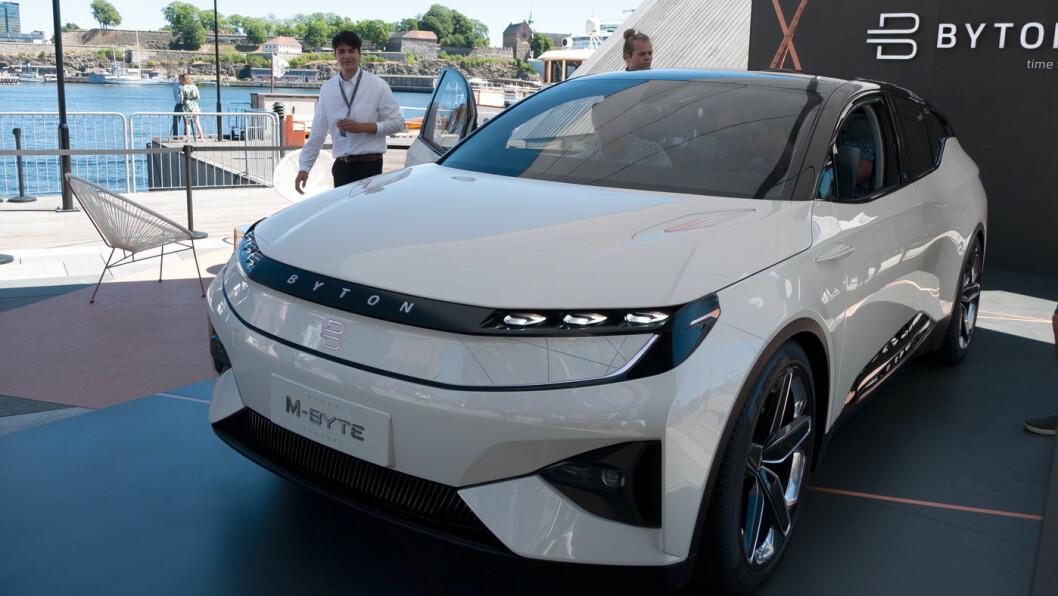 LUKSURIØS KINESER: Med elbilen Byton M-Byte sikter Byton seg inn på det kinesiske, amerikanske og europeiske markedet.