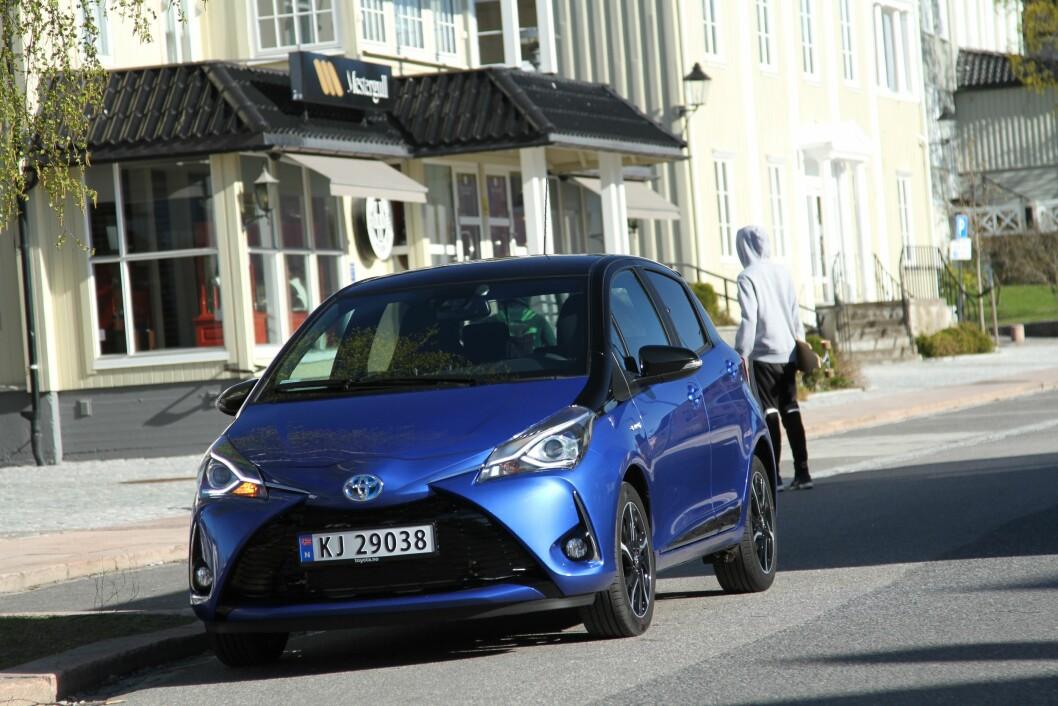 BESTSELGER: Toyota Yaris, her i utgaven som fikk en facelift i 2017, er den mest populære Toyota-modellen i Europa.