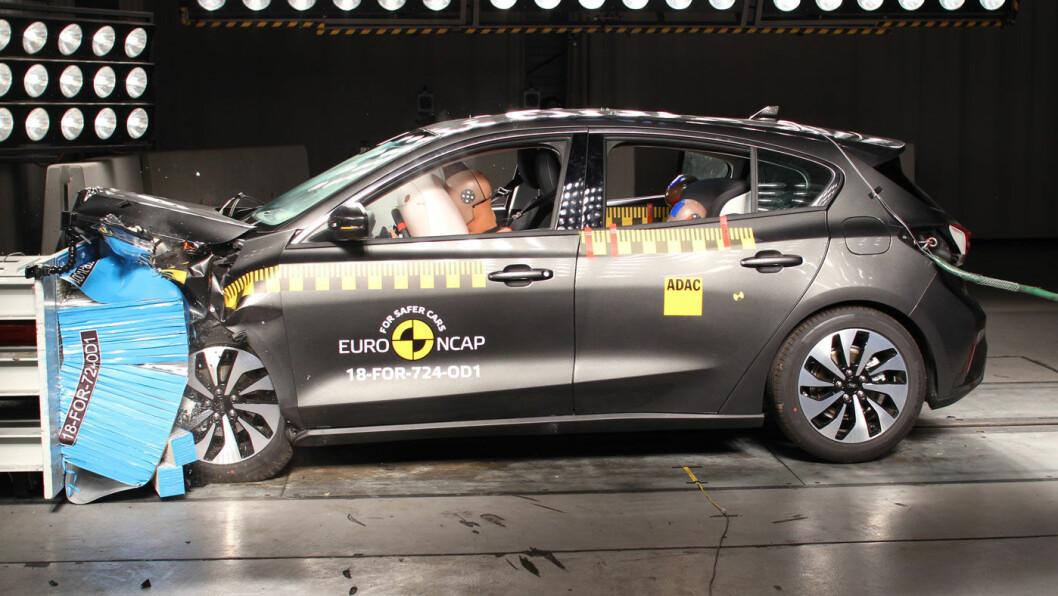 TOPPSCORE: Ford Focus i krasjtest.