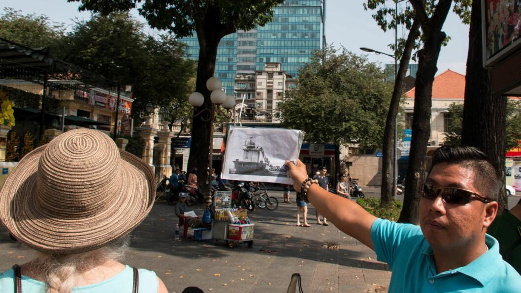 IKONISK BILDE: Like ved Notre Dame-katedralen i sentrum av Saigon ligger bygningen der den siste amerikanske helikopter-evakueringen foregikk en aprildag i 1975.