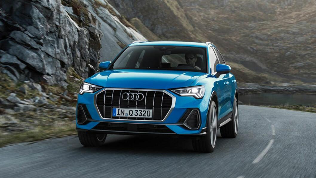 VOKSER: Audi har hentet mye inspirasjon fra de større modellene til andre generasjon Q3. Foto: Audi AG