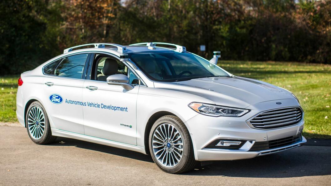 AMBISIØSE: Ford har gjort en rekke tester med selvkjørende biler, og regnes for å være den mest ambisiøse av alle de store produsentene på dette feltet.