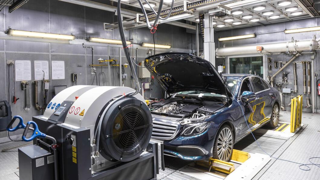 NY TEST: Mercedes-Benz har testet sine biler etter WLTP-prosedyren siden september 2017. Foto: Daimler