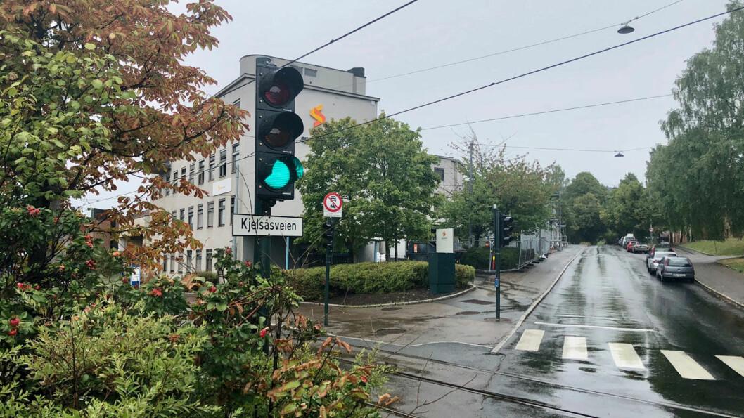 SNART BOM: 53 nye bommer kommer nå i Oslo, en av dem blir her i Kjelsåsveien nær Sinsenkrysset. Foto: Peter Raaum
