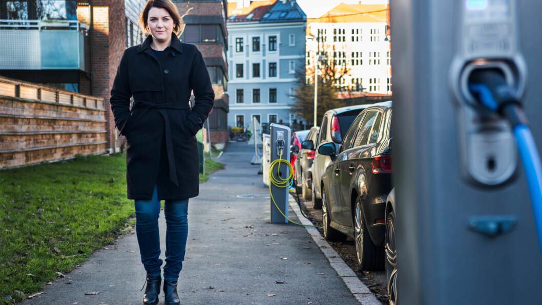 SLÅR ALARM: Christina Bu, generalsekretær i Norsk elbilforening, advarer om at vi står overfor enorme utfordringer med ladeinfrastrukturen. Foto: Mariam Butt, NTB Scanpix