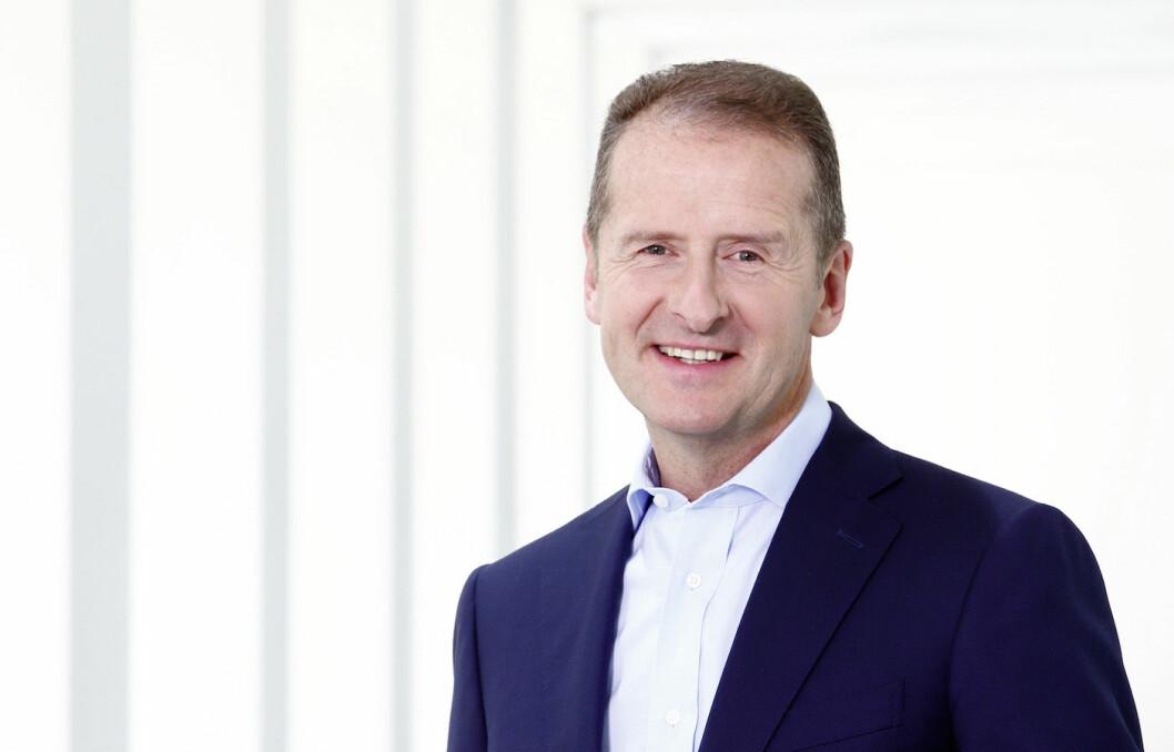 VISSTE TIDLIG? Herbert Diess, toppsjef i Volkswagen AG.