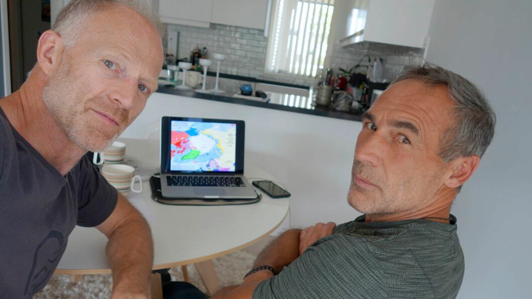 KLAR FOR TUR: Børge Ousland planlegger ny polferd i høst med sørafrikaneren Mike Horn (t.h.).