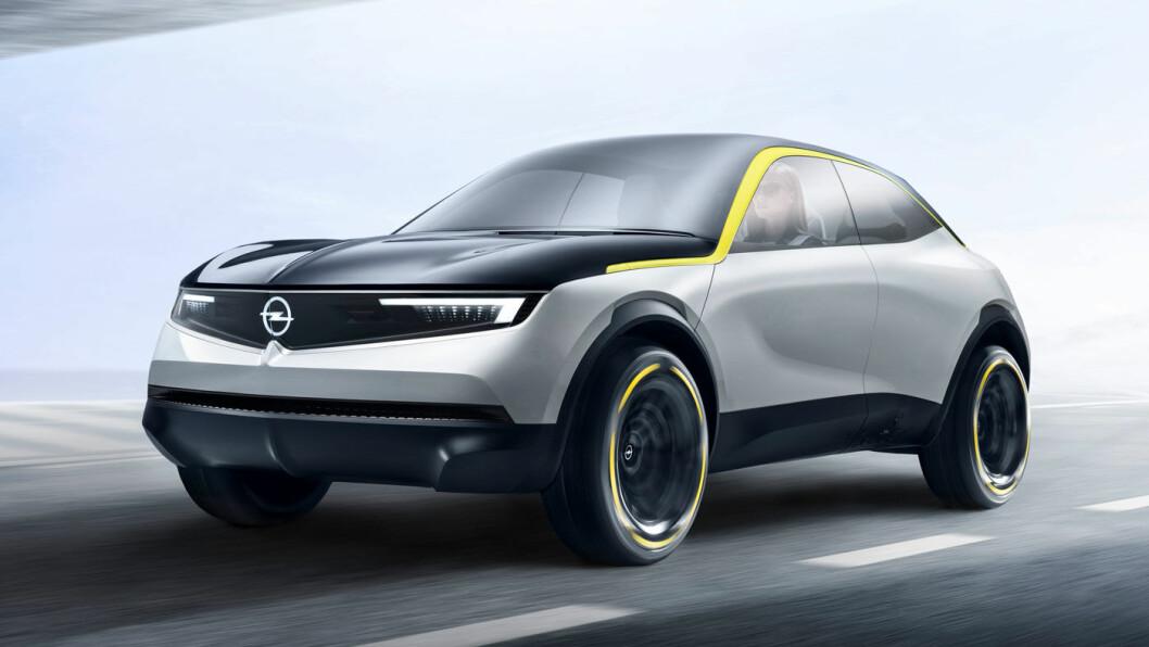 UTEN HATT: Her er Opels nye designuttrykk, representert ved kompakt-SUV'en Opel GT X Experimental.
