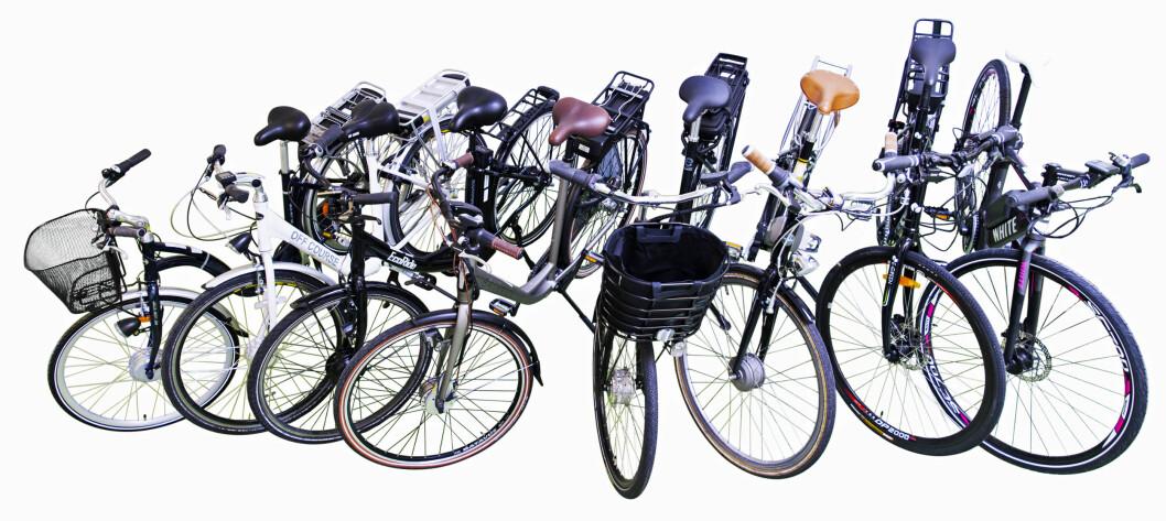 EN VINNER: Flere av de åtte elsyklene NAF har tetstet tåler ikke vann eller har dårlige bremser. Foto: NAF