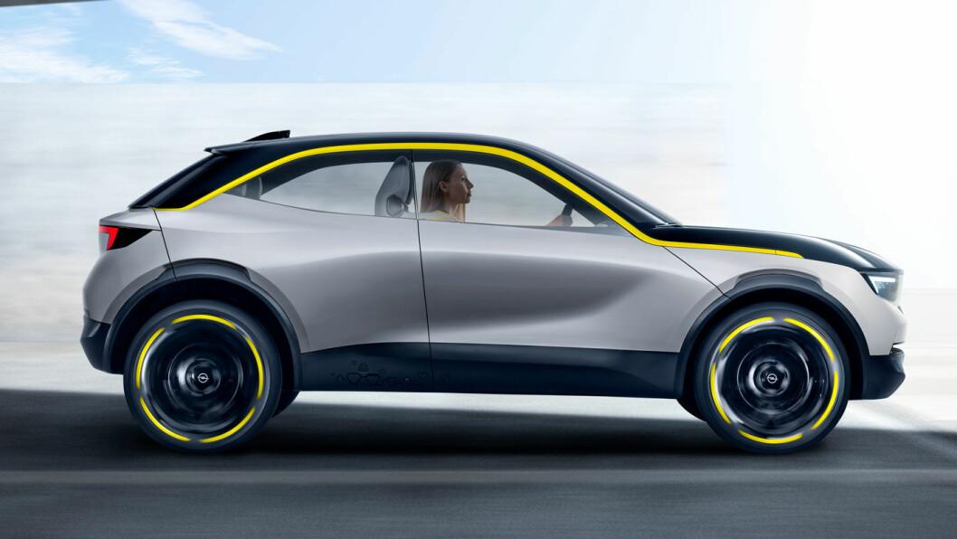 KOMPAKT: Opel GT X Experimental er designet med 17 tommers hjul som gjør at den ser større ut enn den egentlig er, 406 cm fra ende til annen.