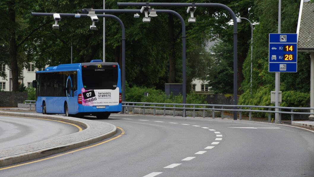 MÅ BETALE? I bomringen her i Kristiansand kan elbiler måtte betale når andelen kommer opp i 15 prosent. Foto: Geir Røed