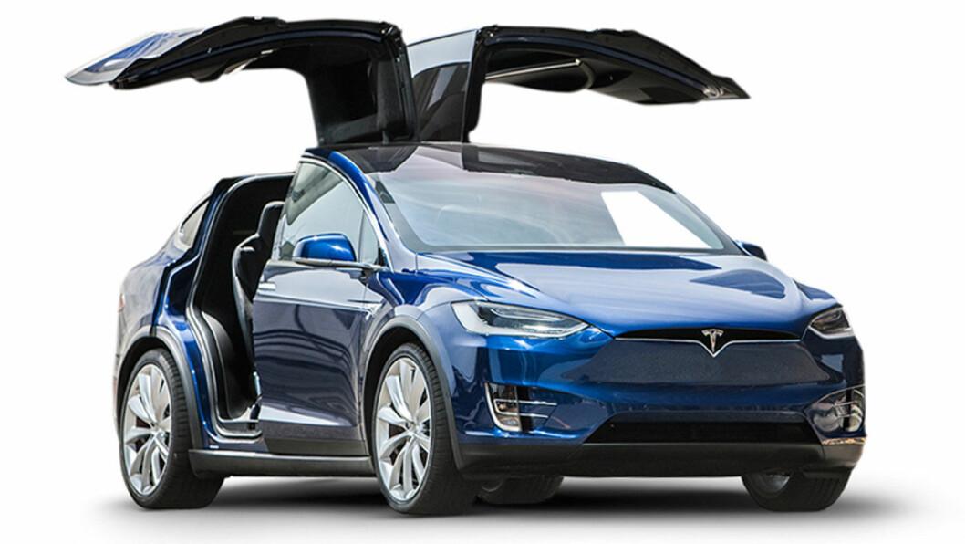 BLIR BILLIGERE IGJEN: Tesla Model X (bildet) er, i likhet med Model S, satt ned med 50.000 kroner. Foto: Tesla Motor