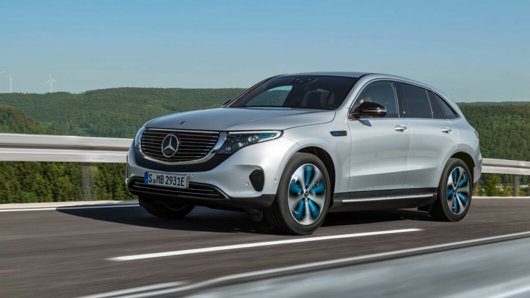 NY STJERNE: Mercedes-Benz EQC