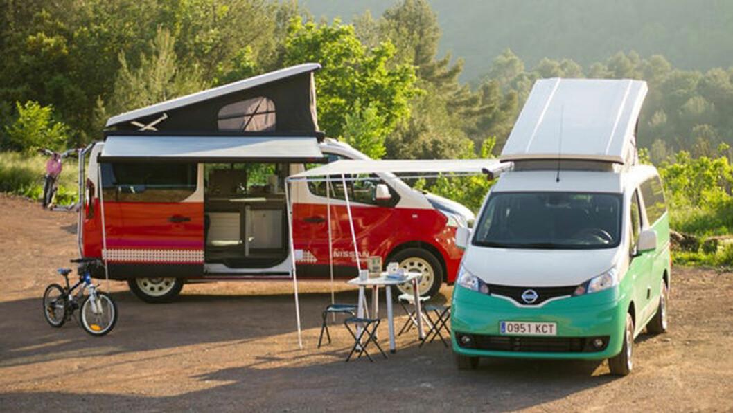 FRISK LUFT: Med Nissans elcamper kommer du utslippsfritt ut i frisk luft. Nissan i Spania har laget denne versjonen av modellen e-NV200.