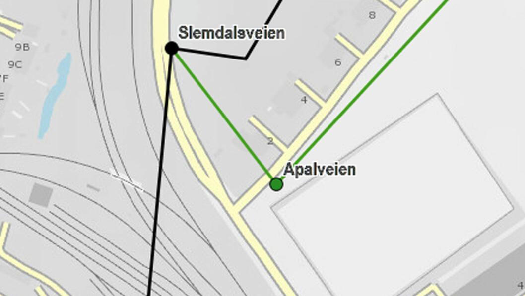 TETT: Nedenfor Frøen T-banestasjon er det bare 200 meter mellom bomstasjonene for Osloringen (dagens bomring) og bomstasjonen for den nye ringen rundt indre by.