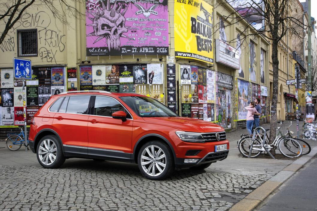 STØRRE OG STILIGERE: Både stilen og størrelsen er endret når nye VW Tiguan kommer til norske forhandlere i slutten av mai. Foto: VW