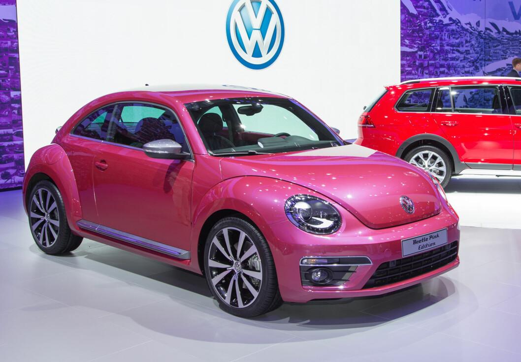 VW presenterte en rosa Beetle i 2015. Ikke bra for bruktbilprisen skal vi tro KDV