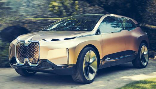 <b>BMW IX.</b> Helelektrisk.<b> (</b>Bildet viser konseptbilen BMW Vision iNEXT)