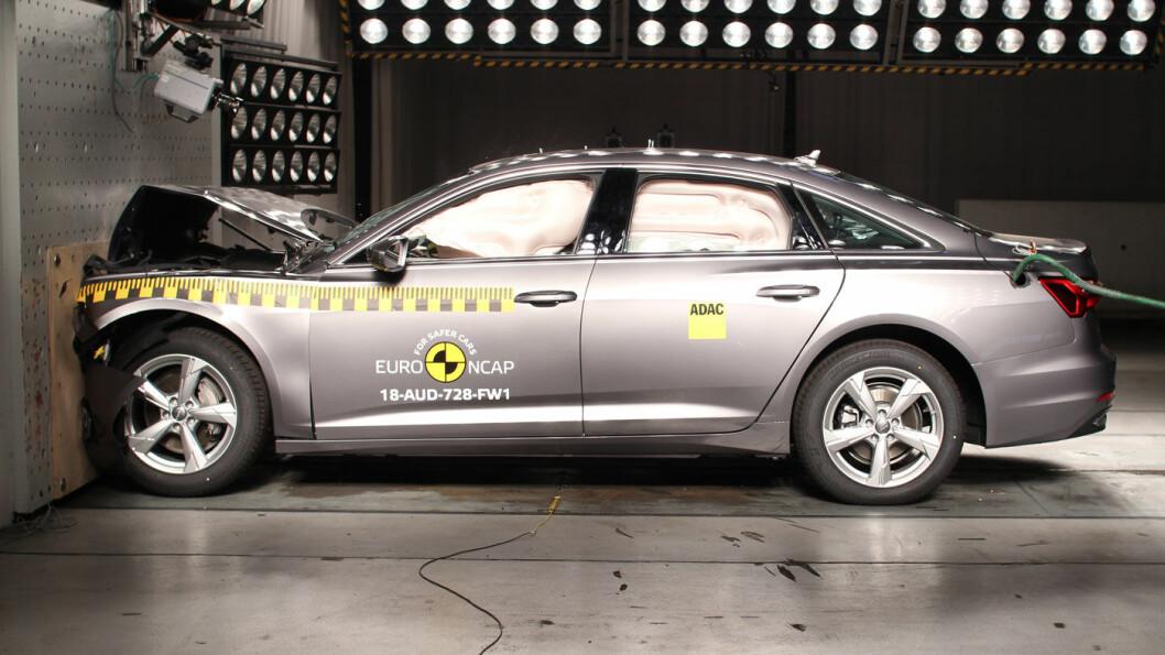 SIKKER: Audi A6 imponerer i ny krastjest, og legger seg tett oppunder eneren, Volvo XC60.