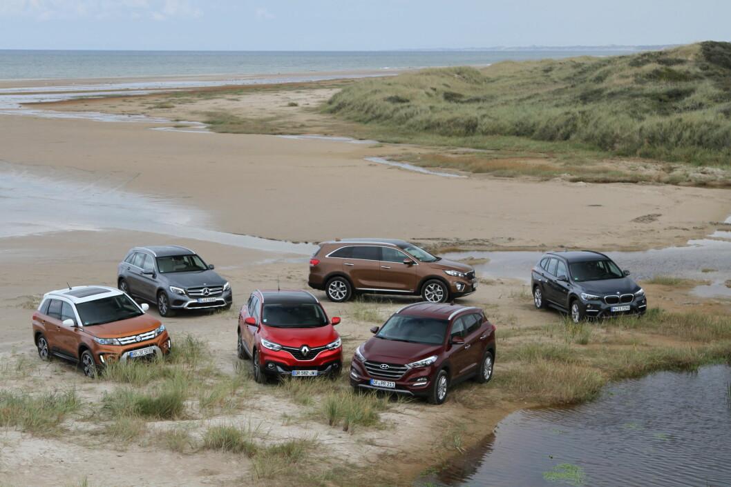 PÅ ALLE FIRE: Mange av bilene med firehjultrekk er SUV-er, men også flere stasjonsvogner er populære med trekk på alle hjul. Foto: Rune Korsvoll