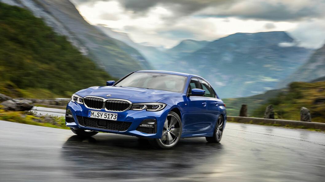 HELT NY: BMW 3-serie er konsernets viktigste modell, og er som ventet en diskret videreutvikling av en 40 år lang suksess. Her er Model M Sport.