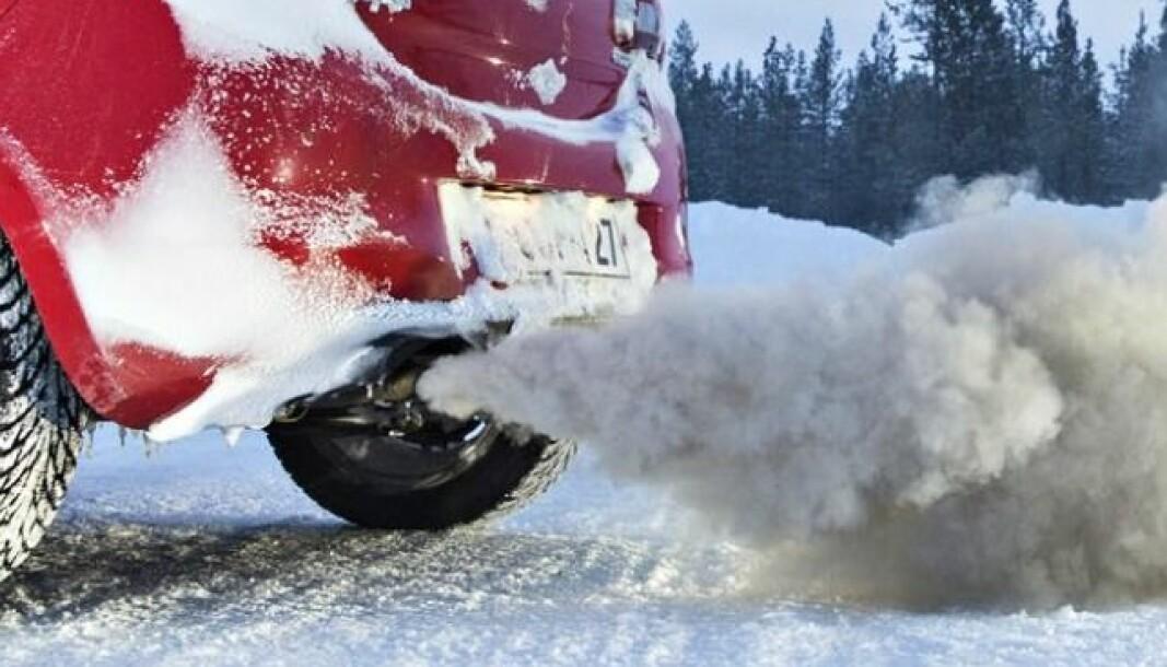 SLIPPER UT MYE: Som også Motors tester har vist tidligere, øker utslippene kraftig under norske vinterforhold. Også de nyeste dieselbilene er berørt.