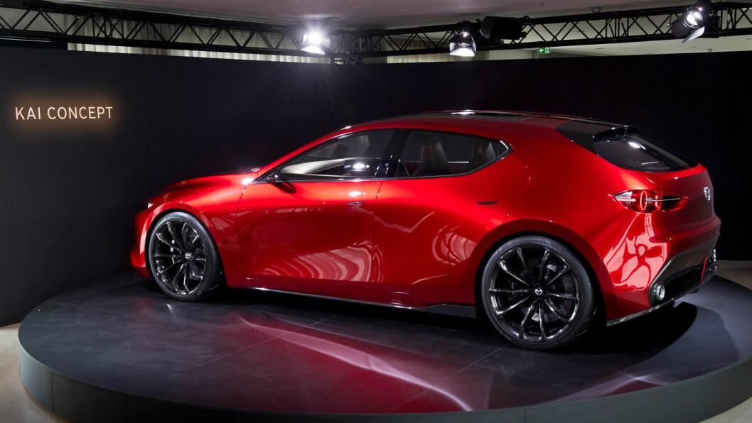 SPENNING: Mazda jobber med utradisjonelle kombinasjoner på sine nye elektrifiserte biler. De første kommer i 2020. Om konseptbilen KAI, som ble vist i Japan i vinter, vil inngå i el-porteføljen, gjenstår å se.