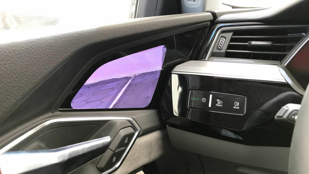 SIDEKAMERA: De digitale speilene gir lavere luftmotstand, men kanskje gimmick-faktoren betyr mer for de kundene som velger å bla opp 15.000 ekstra for disse?