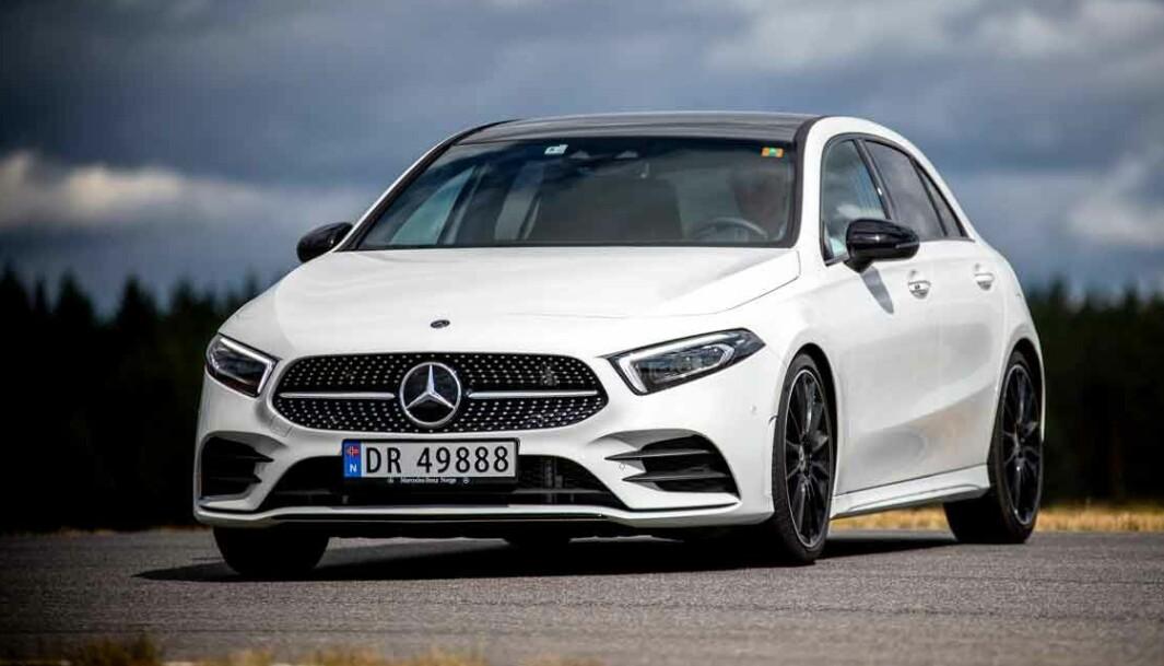 IKKE FEILFRI: Mercedes A-klasse har hatt hyppige tilbakekallinger det siste året.